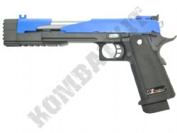 WE Dragon 1911 Hi-Capa Airsoft Pistol Gas Blowback BB Gun Black 2 Tone